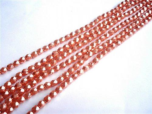 Broušené perle lososové