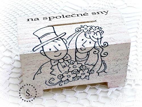 dřevěná pokladnička - kasička