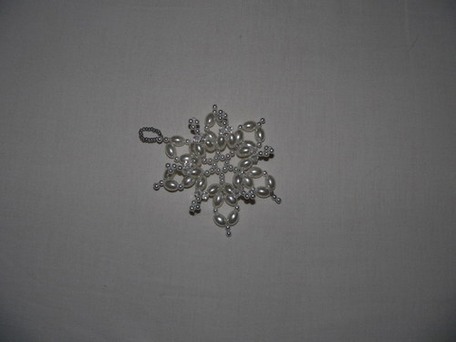 plastická bílo-stříbrná hvězda I