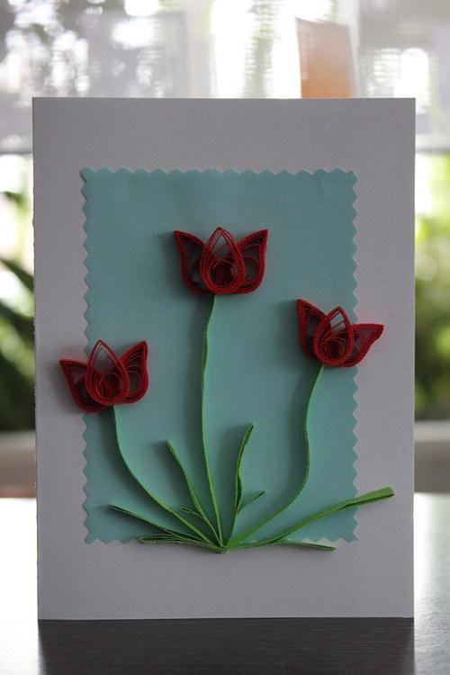 Tulipány v modrém ...