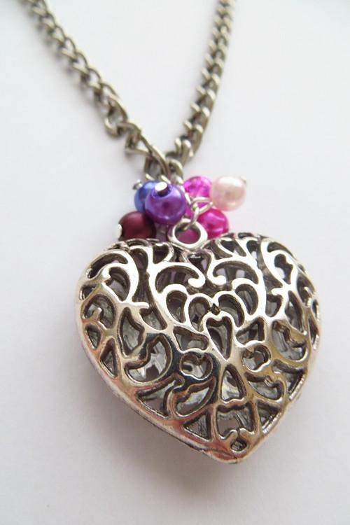 3D srdce náhrdelník