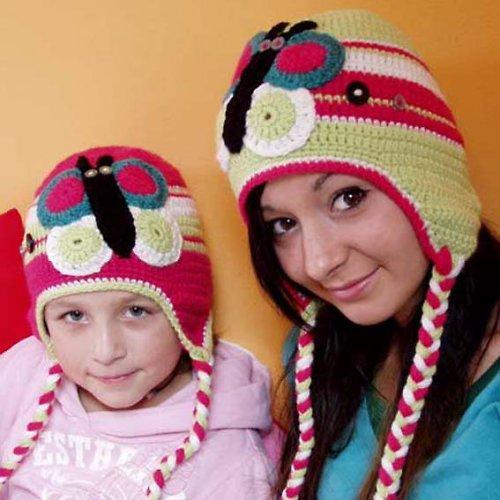 Pro holčičku a maminku - sada zimních čepic