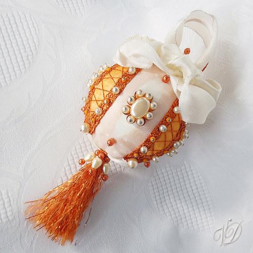Luxusní originální korálková vánoční ozdoba SO004