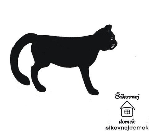 Razítko kočka 1 - v.7x11cm