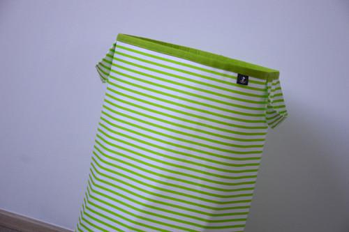 Látkový koš na prádlo/hračky zelené proužky