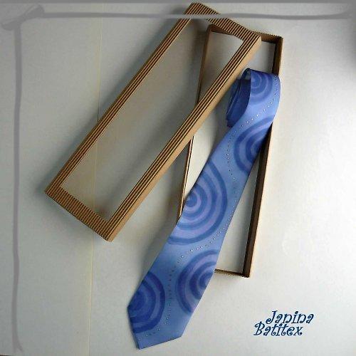 Hedvábná kravata - Modrásek