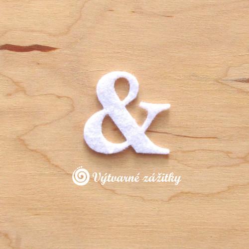 Symbol &  (ampersand) - malý - z plsti