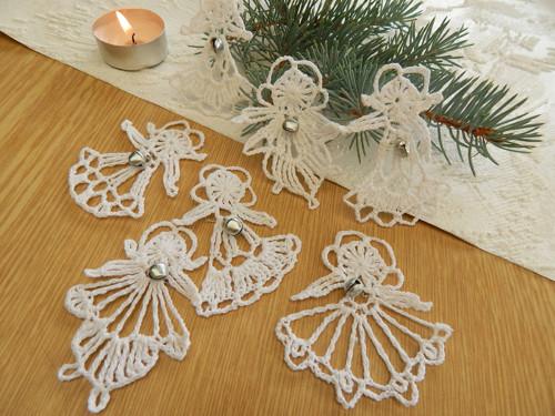 Vánoční sada - 7 andělíčků  s rolničkou