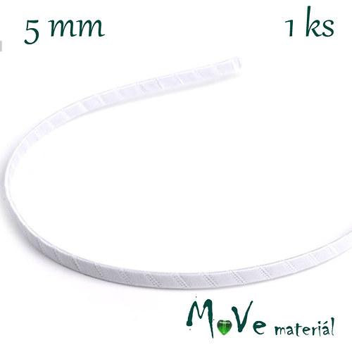 Čelenka jednoduchá potažená bílá/5mm
