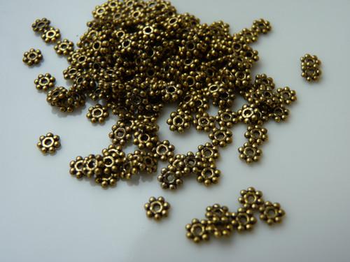 349e, Komponent 4mm 40ks/19,- atique zlatá
