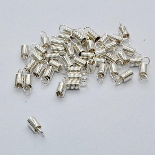 Koncovka spirálka / 20 ks / 3,2 mm / stříbro