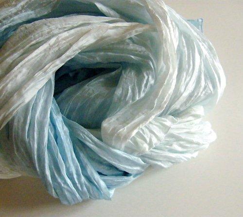 Blankytně modrý...hedvábný pléd 90x200
