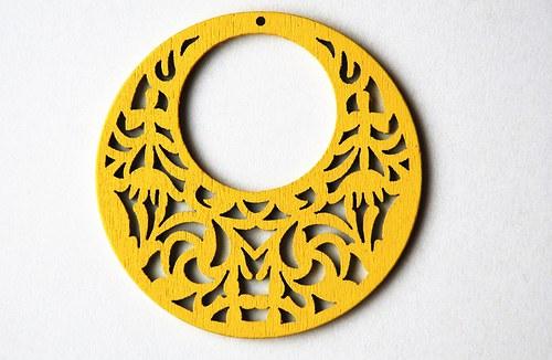 dřevěné kolečko- žluté