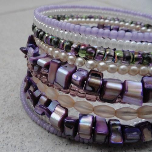 Fialový s perletí