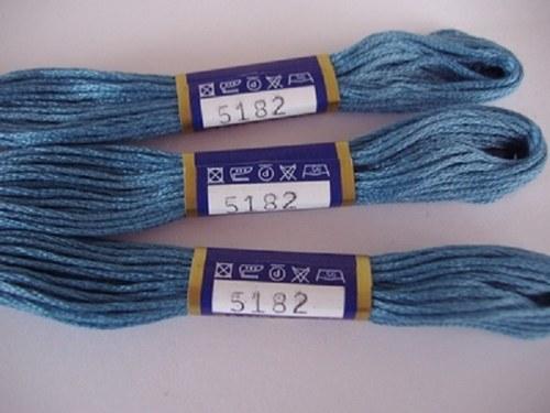 Vyšívací příze mouline -sojčí modrá