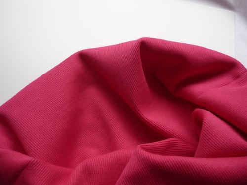 Náplet elastický žebrovaný - cyklámově červený
