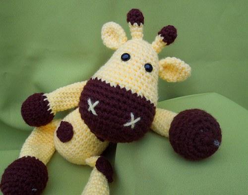 Háčkovaná žirafa Sofie - návod