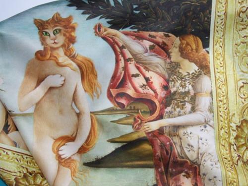 Šátek satenový extravagantní, Kočičí Venuše