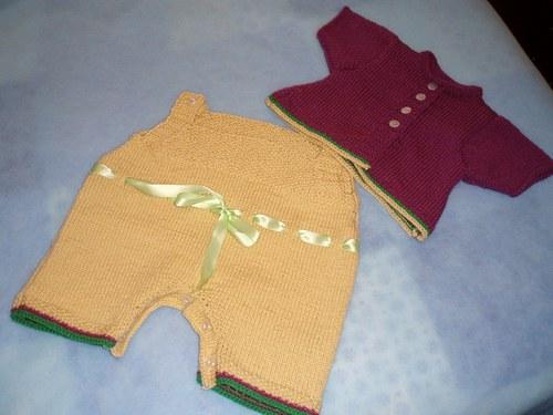 Dívčí jarní pletený komplet