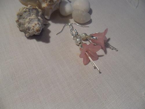 Kytičky růžovostříbrné-náušnice