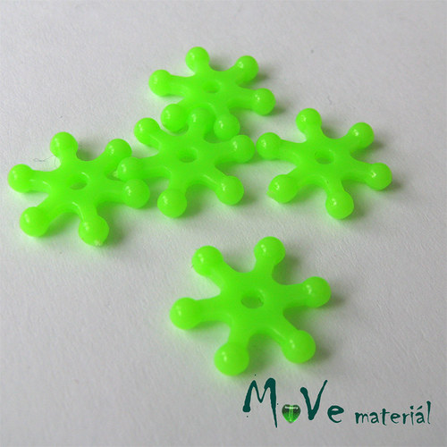 Plastový mezikus - hvězdička, 10kusů, sv. zelená