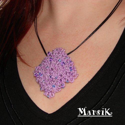 Violet surprise ... náhrdelník s překvapením SLEVA