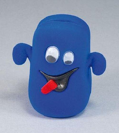 Sametová krabička na šperky - modrý duch
