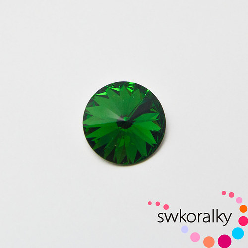 RIVOLI 14 SWAROVSKI ® ELEMENTS dark moss green