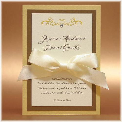 Svatební oznámení z metalických papírů