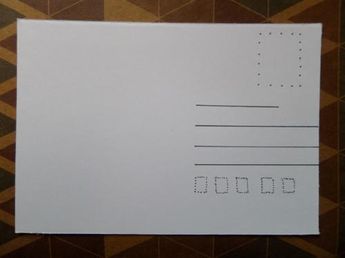 Zadní strana pohlednic