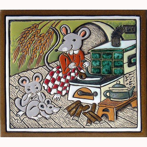 Keramický obrázek - Myšky K-117-Z