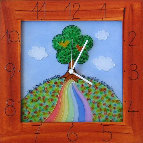 Na Kopečku Stromeček - hodiny v rámu 34cm