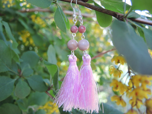 Růžové střapce (rodonit)