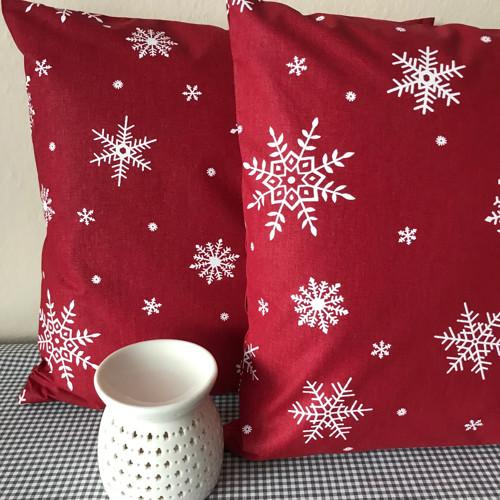 Povlak - vánoční červená
