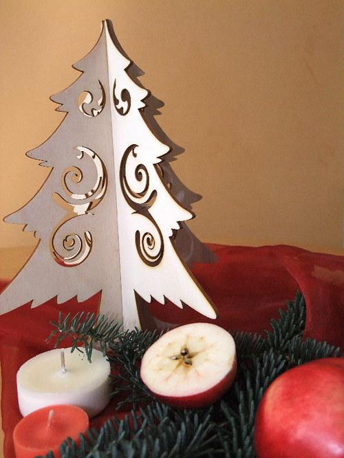 Vánoční strom, stromeček - FILIGRÁN 25 cm