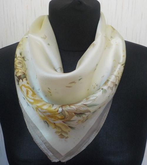 Malý šátek z hedvábí—Květiny 9