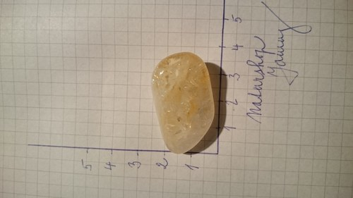 Citrín tromlovaný (3,4x1,9x1,3cm)