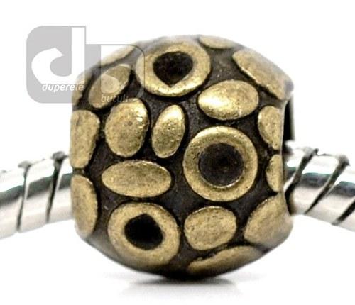 Bronzový korálek na hrubý řetízek