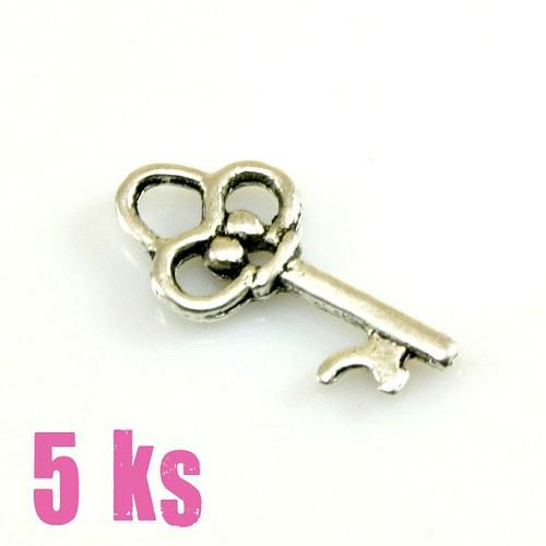 Přívěsek - klíček 19 mm, 5 ks