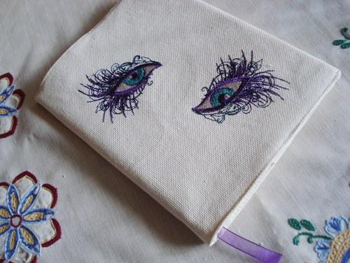 Obal na knihu s očima