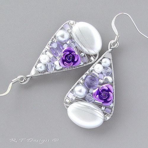 Náušnice Purple Sugar...