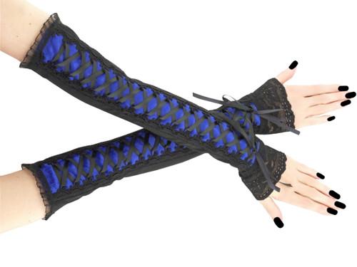 Společenské dámské rukavice modré gothic 0R4