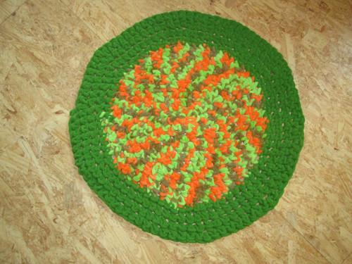 Hřejivý jemný zelený kobereček 60CM