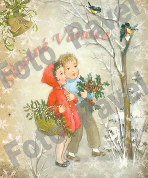 Vintage motiv - vánoce 13-5