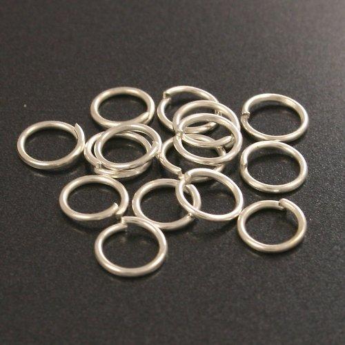 Stříbrné kroužky 6 mm (50 ks)
