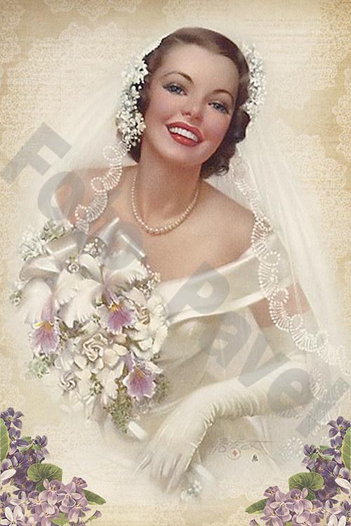 Vintage motiv - nevěsta