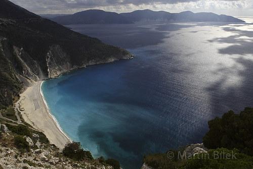 pláž Mirtos, Kefalonia, Řecko