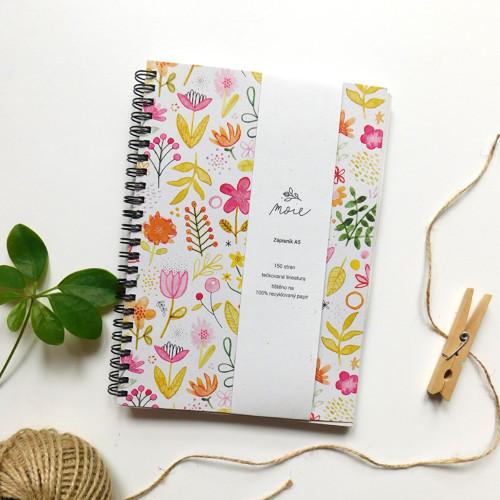 Zápisník A5 - letní louka