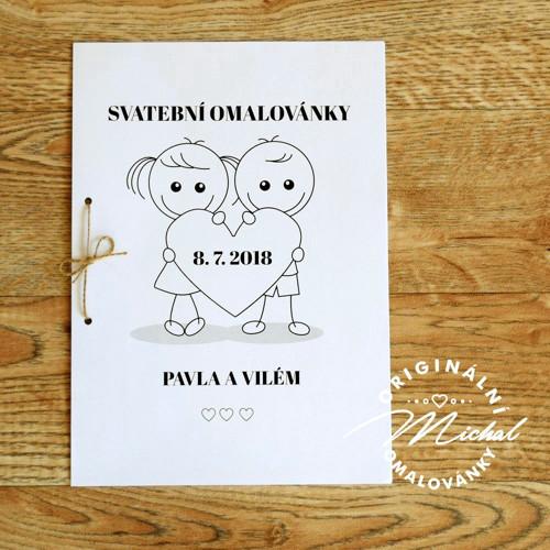 Svatební omalovánky - TYP 43