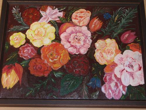 Zátiší s květinami